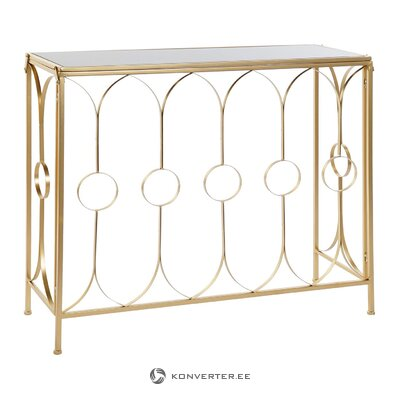 Golden console table (whole, in box)
