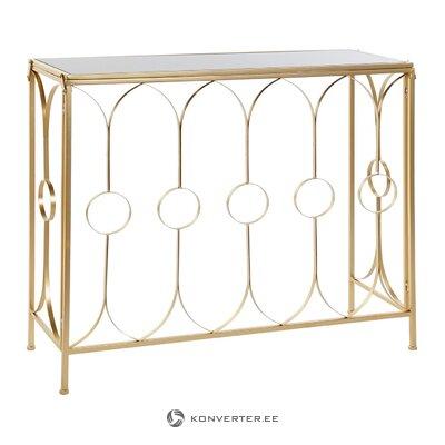 Zelta konsoles galds (vesels, kastē)