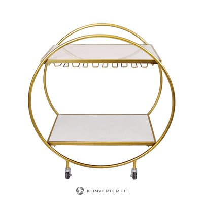 Kultainen tarjoiluvaunu (sisätilat) (kokonainen, laatikossa)