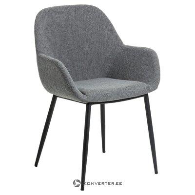Tumši pelēks krēsls (la forma) (ar skaistuma defektiem, zāles paraugs)