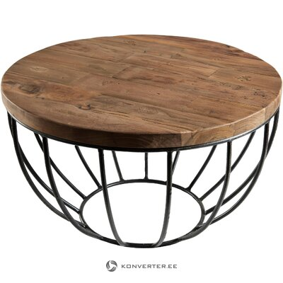 Brown-black coffee table sixtine (macabane) (with flaw hall sample)
