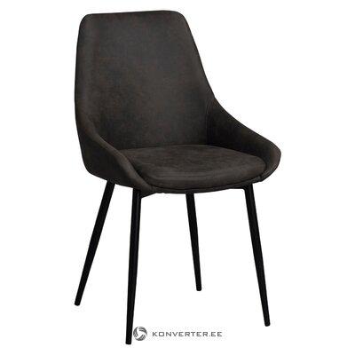 Tummanharmaa-musta tuoli sierra (rowico) (laatikossa, koko)