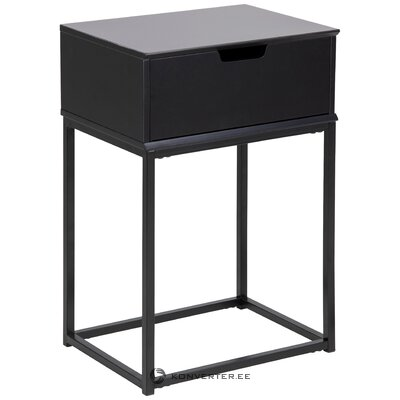 Black nightstand mitra (actona)