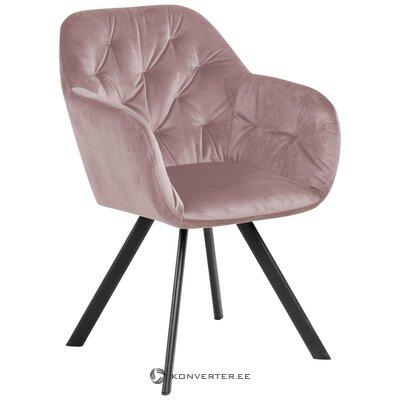 Rozā samta krēsls Lucie (Actona)