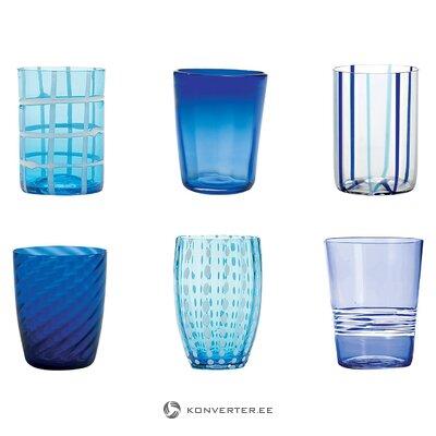 Dzeramā stikla komplekts ar rakstu (zafferano) (vesels, kastē)