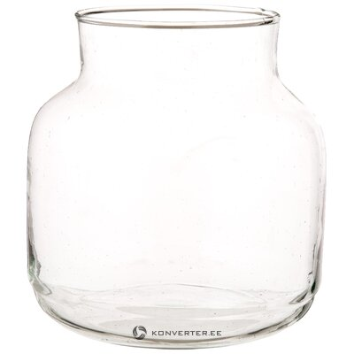 Glass flower vase (urban nature culture) (in a box)