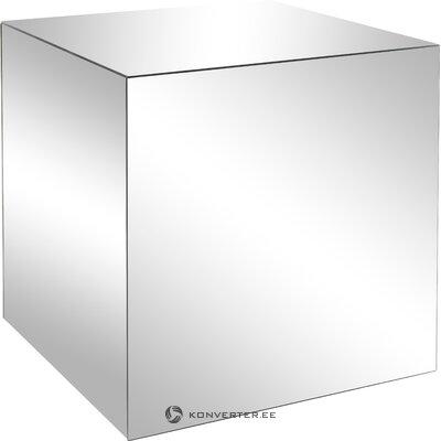 Dizaina kafijas galdiņš ar greznu spoguļstiklu (aptuvens dizains)