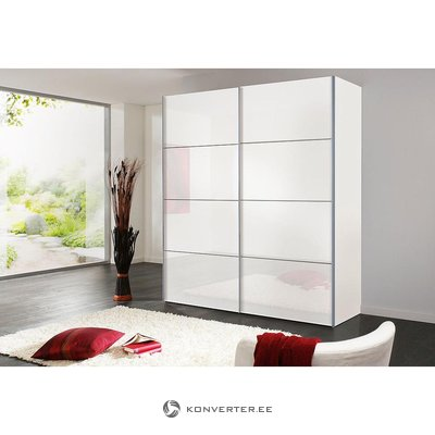 White wardrobe (width 200cm) (with defects in the box)