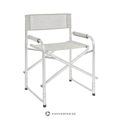 Gray folding garden chair (bizzotto) (plan, box)