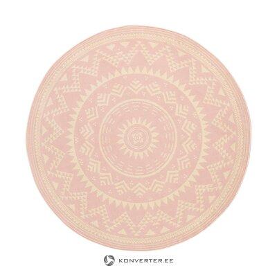 Белый круглый ковер (валенсия) (весь, образец зала)