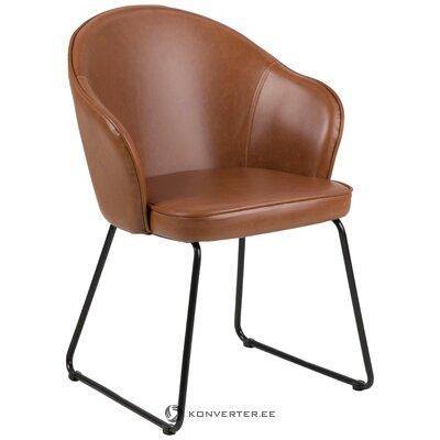 Brūns-melns krēsls mitzie (actona) (ar skaistuma defektiem zāles paraugs)