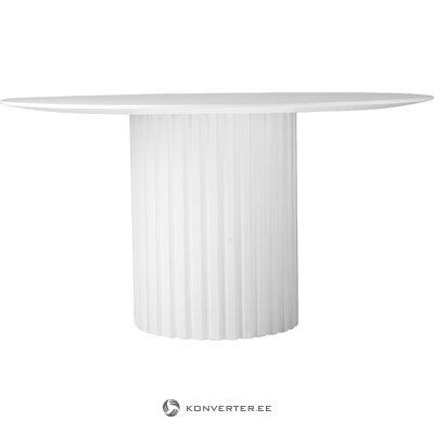 Balts apaļš pusdienu galds (hkliving)
