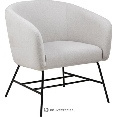 Light gray armchair ramsey (actona) (whole, hall sample)