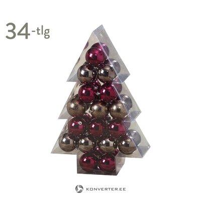 Ziemassvētku rotu komplekts 34 gab. (Bolze) (vesels, kastē)