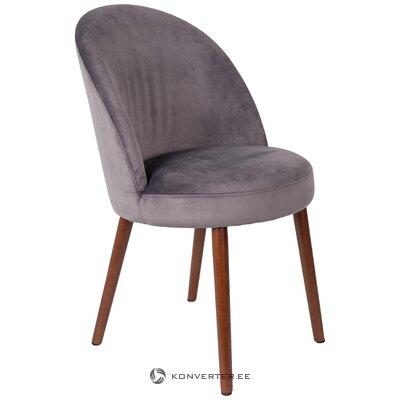 Серый бархатный стул барбара (голландская кость) (с дефектами красоты, образец зала)