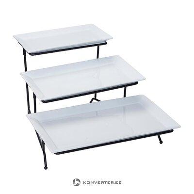 Барный стул бело-черный (наоборот) (с дефектами красоты, холл пробы)