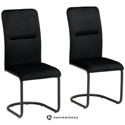 Black velvet chair (amabella)