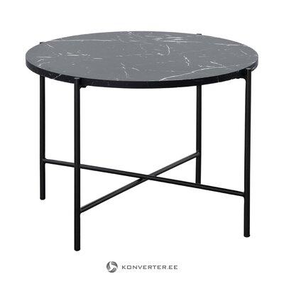 Стол журнальный черный с имитацией мрамора (фрия) (дефект, образец холла)
