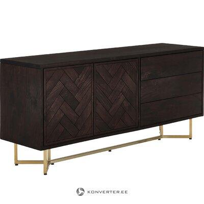 Sininen saunapyyhe (merihevonen) (kokonainen, laatikossa)