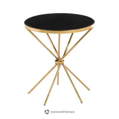 Kulta-musta marmorinen sohvapöytä (ixia) (salinäyte)