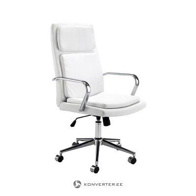 Balts un sudraba biroja krēsls (tomasucci) (kastē, vesels)