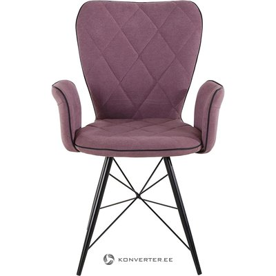 Chair with purple armrests