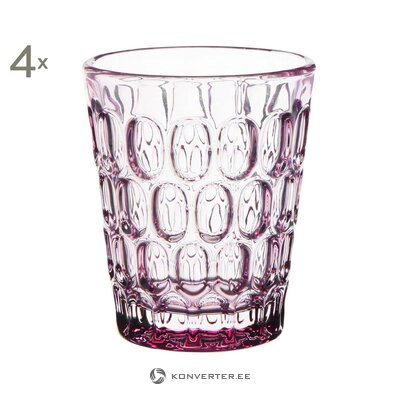 Drinking glass set 4 pcs (côté table) (whole, hall sample)