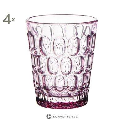 Dzeramā stikla komplekts 4 gab. (Kafijas galds) (viss, zāles paraugs)