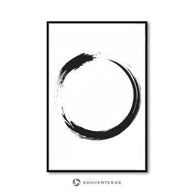 Черно-белый панно (любое изображение) (с серьезными недостатками, холл образец)