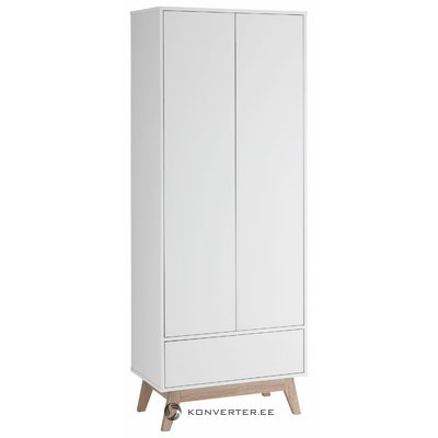 Leon Wardrobe 2 Doors/1 Door - White/Oak