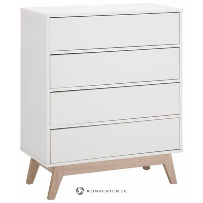 Leon Chest 4 drawers - White/Oak