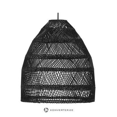 Musta rottinkiriippuvalaisin (kotona) (laatikossa, ehjä)