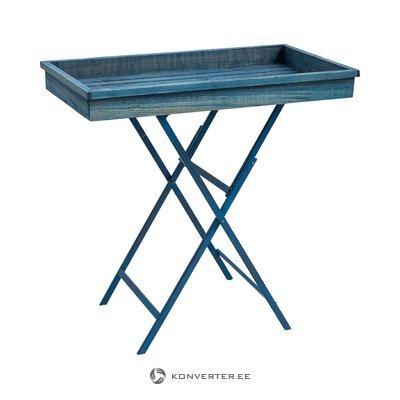 Стол сервировочный синий (новита) (с дефектами красоты, холл пробы)