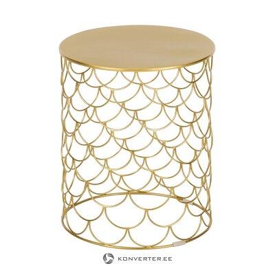 Kultainen metallinen sohvapöytä (joki) (koko, laatikossa)