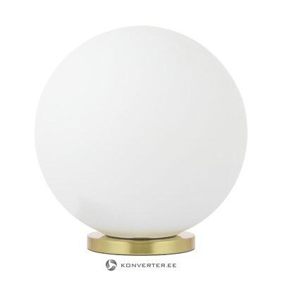 Настольная лампа бело-золотая (beth) (в коробке, целиком)