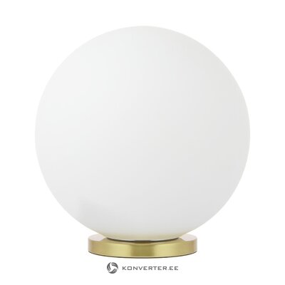 Baltā zelta galda lampa (beth) (kastē, vesela)