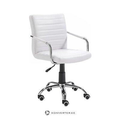 Balta biroja krēsls (tomasucci) (zāles paraugs, ar trūkumu)