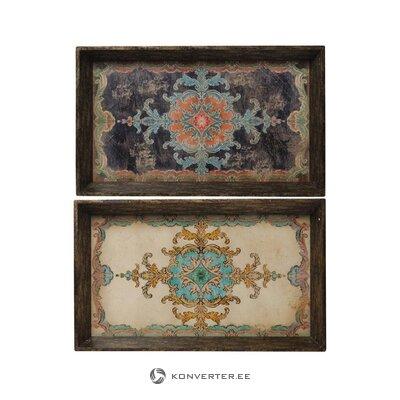 Smėlio-juoda kampinė sofa (Carrie) (dėžutėje, visa)