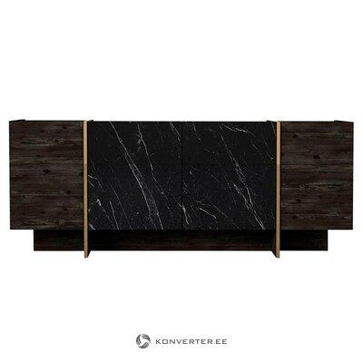 Musta metallinen sohvapöytä (amalia) (laatikossa, koko)