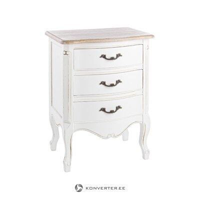 Harmaa-valkoinen sohvapöytä (lesley) (laatikossa, koko)