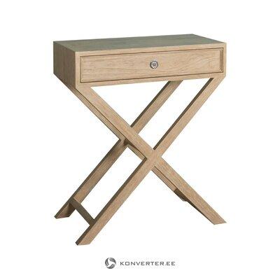 Balta-pelēka galda lampa Nancy (Anderson) (kastē, vesela)