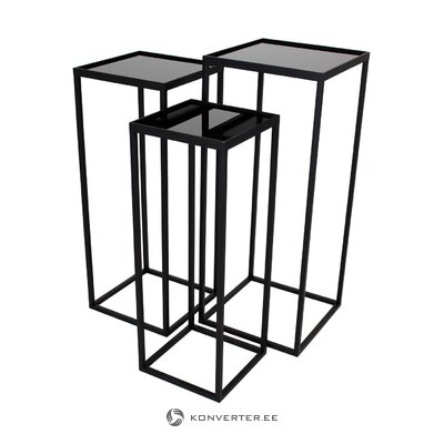 Black-gold coffee table (clarice) (whole, hall sample)