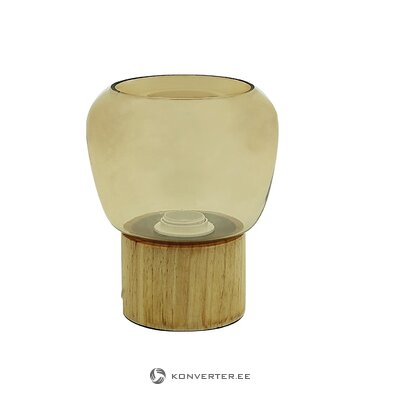 Wooden table lamp cancun