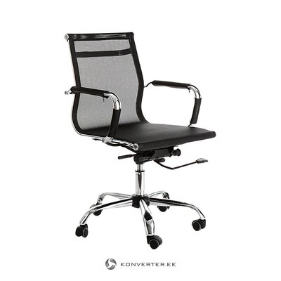 Black and silver office chair (tomasucci) (whole, hall sample)