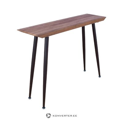 Brown-black console table (venture design) (defective, hall sample)