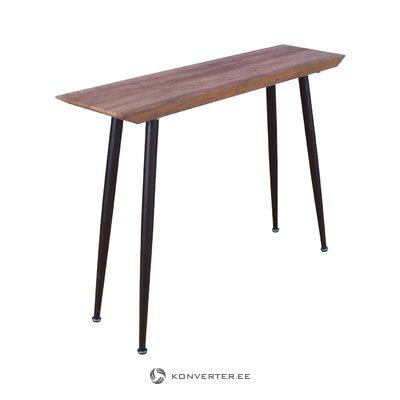 Brūni melns konsoles galds (riska dizains) (ar defektiem zāles paraugs)