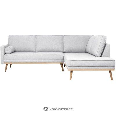 Pilka kampinė sofa (šventoji) (nepažeista, pavyzdys)