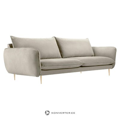 Pilka-auksinė sofa Florencija (Besolux) (dėžutė, visa)