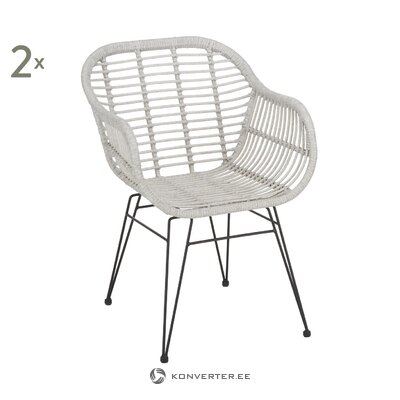Light gray-black garden chair (costa) (with beauty defect, hall sample)