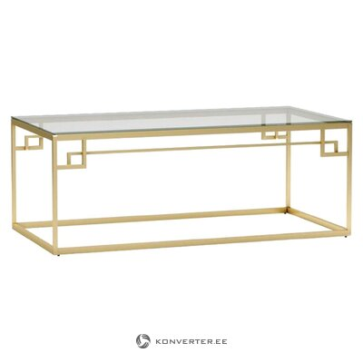 Gold frame coffee table tyra (inart) (with flaws, hall sample)